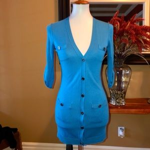 Martin + Osa Royal Blue Button Up Cardigan XS